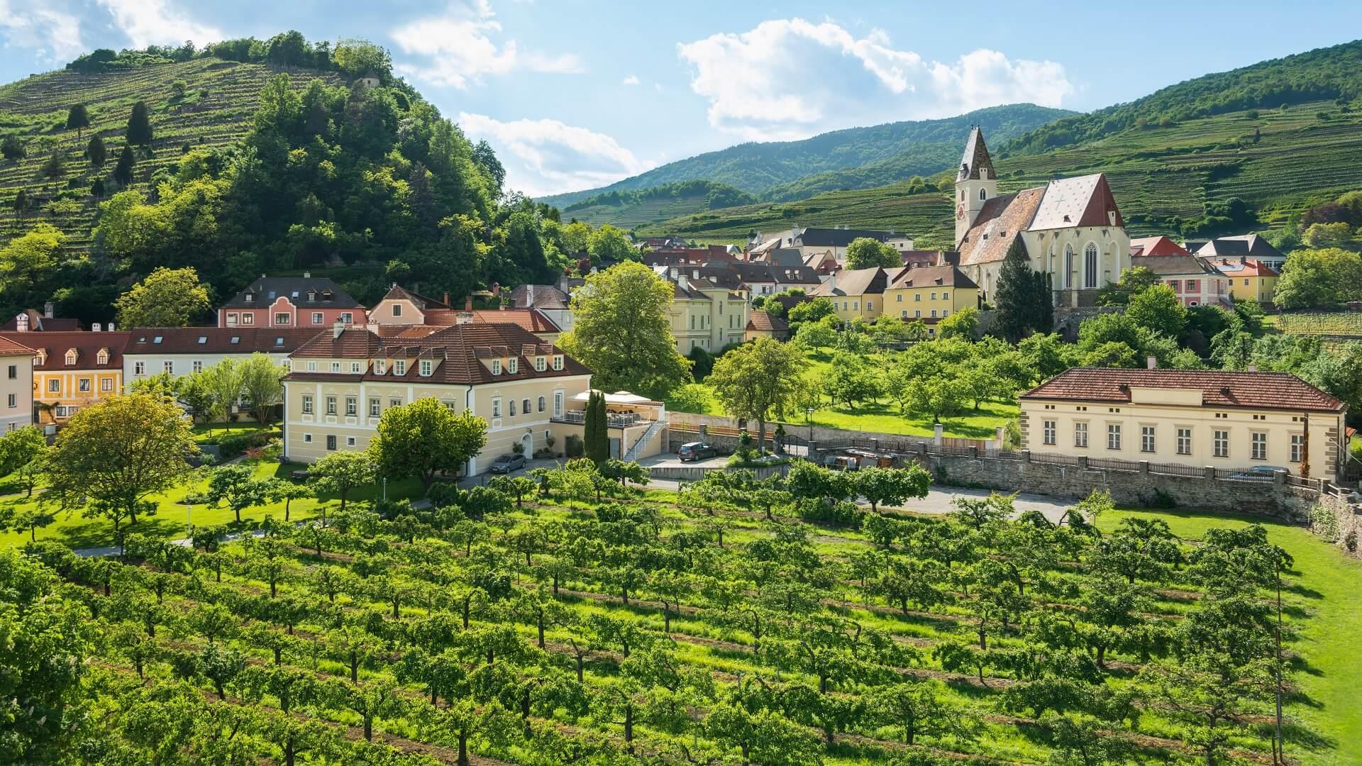 Spitz an der Donau im Frühjahr. (Wachau)